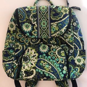 Vera Bradley Blue & Green Floral Backpack
